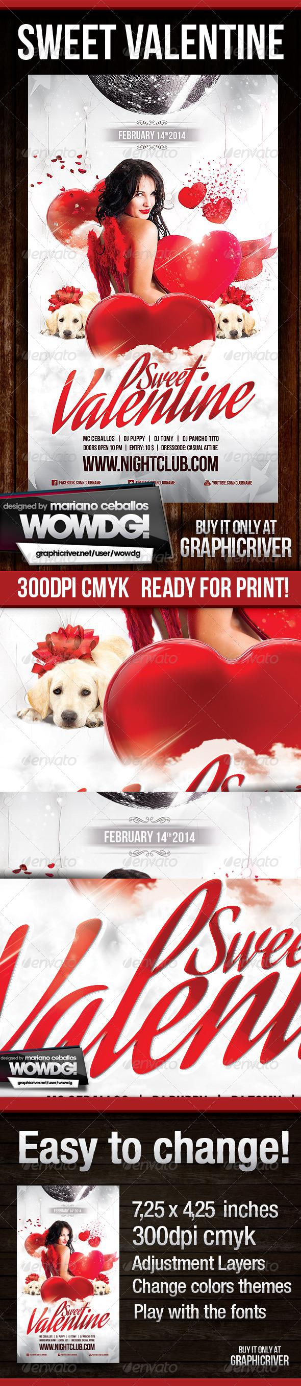 Sweet Valentine  - Flyers Print Templates