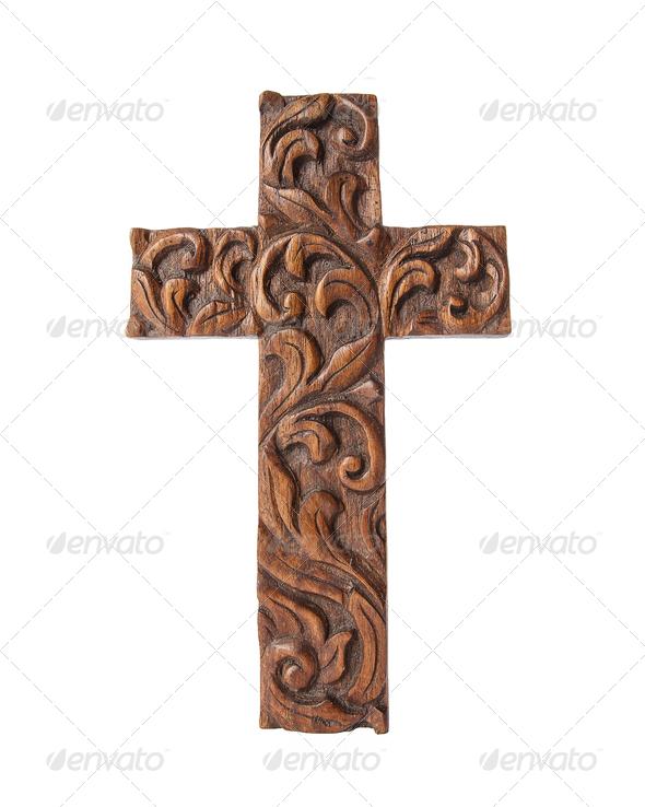 wood crossc - Stock Photo - Images