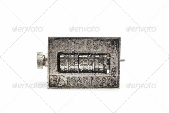 old date stamper - Stock Photo - Images