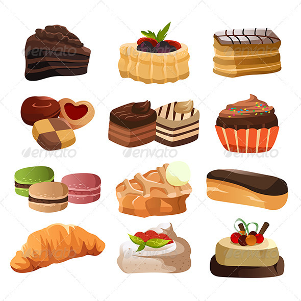 Pastry Icons - Food Objects
