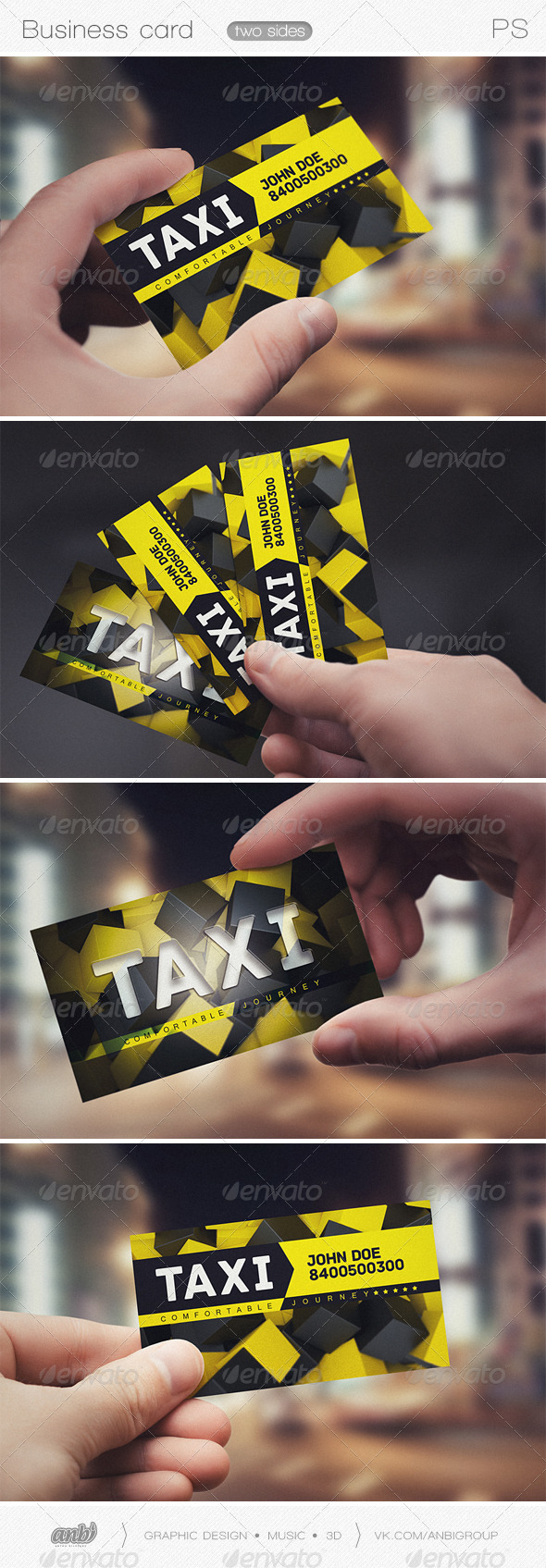 Taxi comfortable journey - Business Cards Print Templates