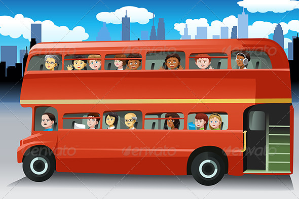 People in a Bus - People Characters