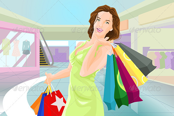 Woman Shopping - Commercial / Shopping Conceptual