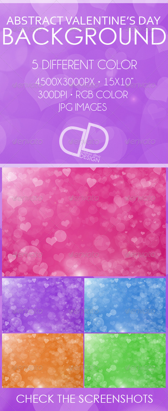 Abstract Valentine's Day Background - Backgrounds Graphics