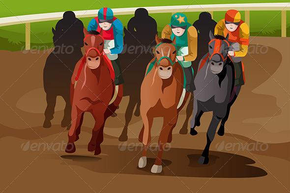 Horse Racing - Sports/Activity Conceptual