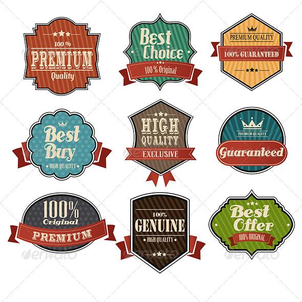 Vintage Label Sets - Decorative Vectors