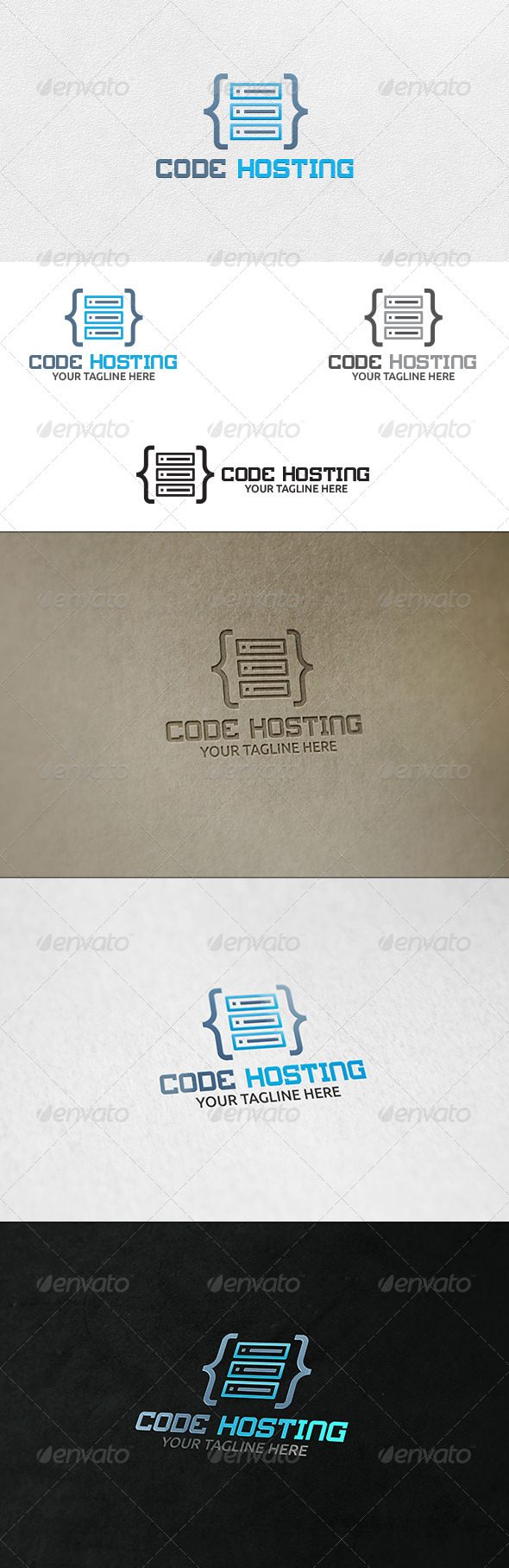 Code Hosting Server - Logo Template - Symbols Logo Templates