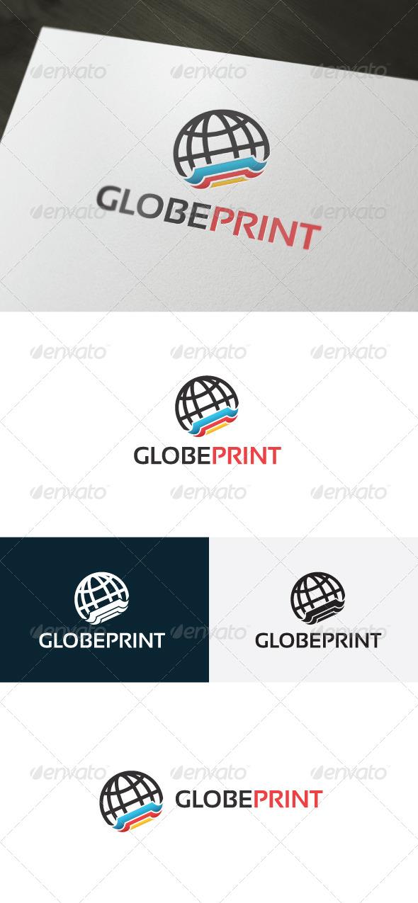 Globe Print Logo - Symbols Logo Templates