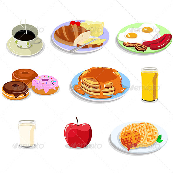Breakfast Food Icons - Food Objects