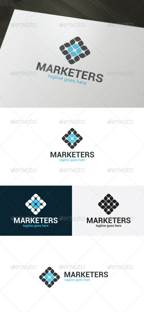 Marketers Logo - Vector Abstract