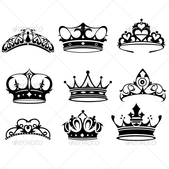 crown icons by artisticco graphicriver. Black Bedroom Furniture Sets. Home Design Ideas