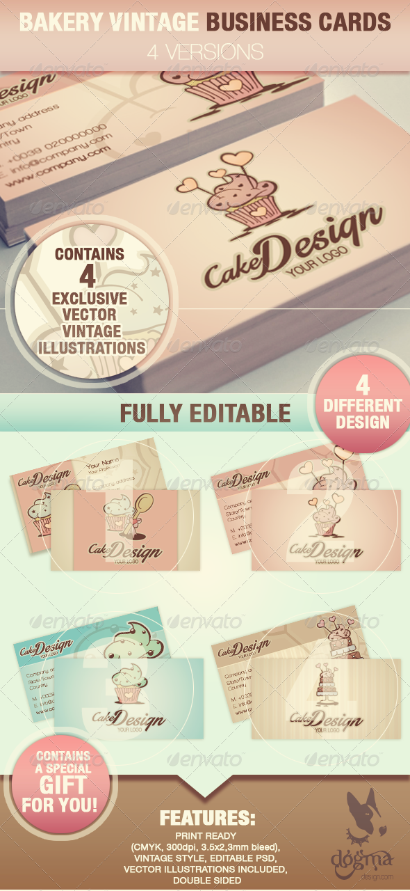 Cake Design Business Cards By DogmaDesign