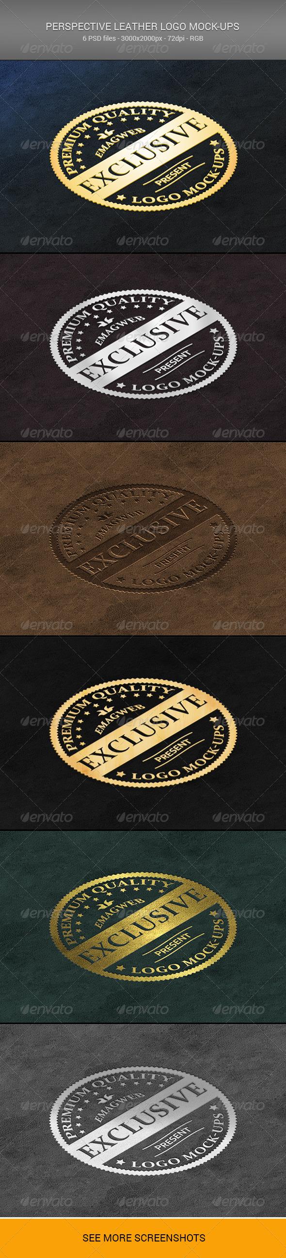 Perspective Leather Logo Mock-ups - Logo Product Mock-Ups