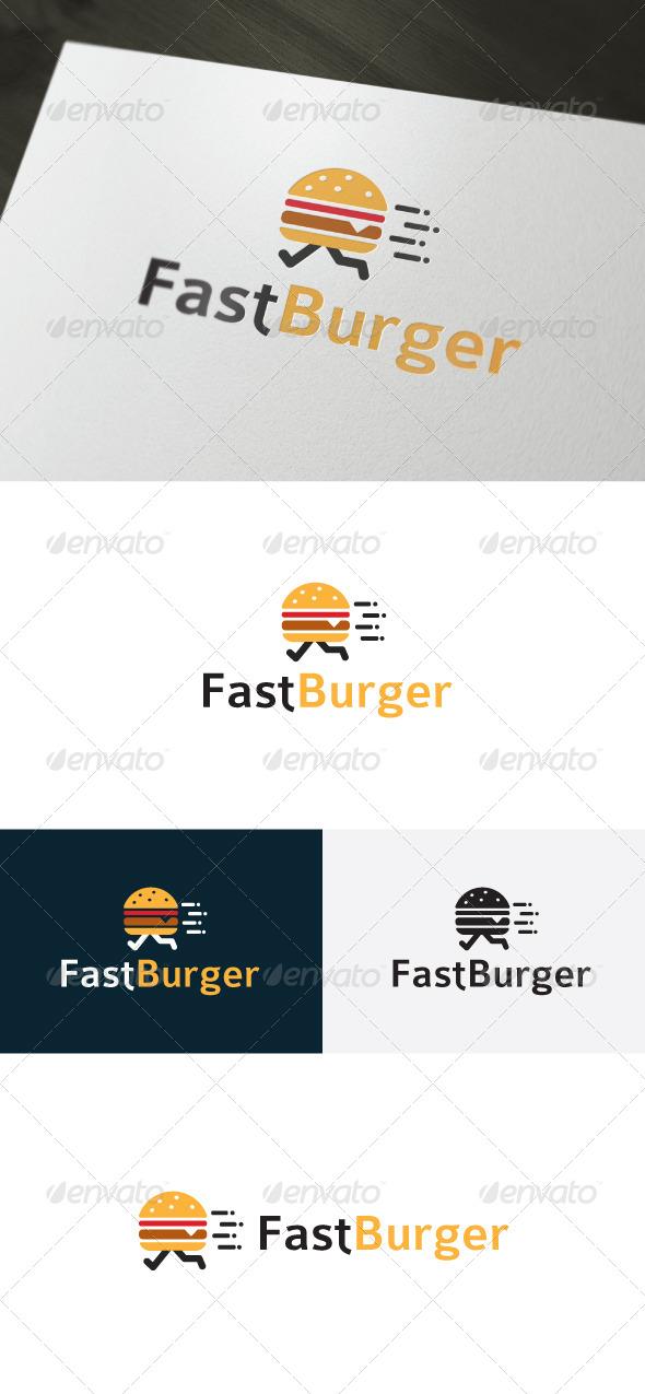 Fast Burger Logo — Fast Food - Food Logo Templates
