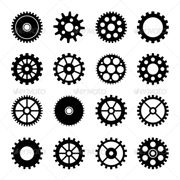 Gear Wheel Icons Set 2 - Technology Icons
