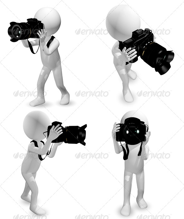 Man with a Camera - Characters 3D Renders