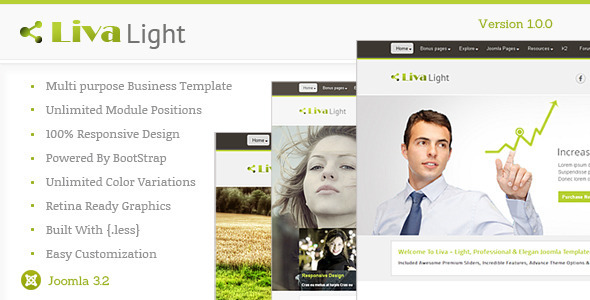 Livalight Theme - Responsive Multi-Purpose Joomla  - Business Corporate