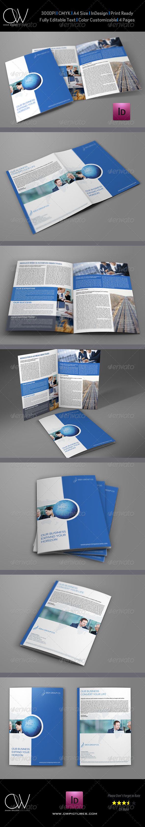 Company Brochure Bi-Fold Template Vol.18 - Corporate Brochures