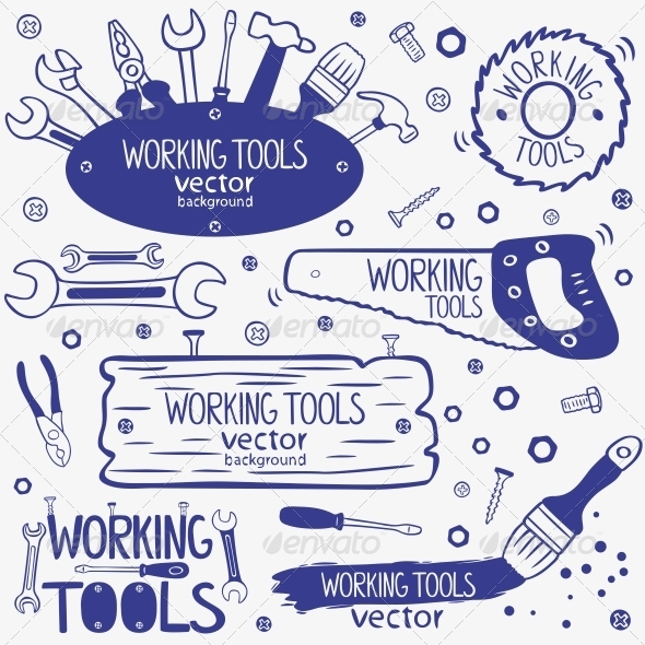 Working Tools Set - Buildings Objects