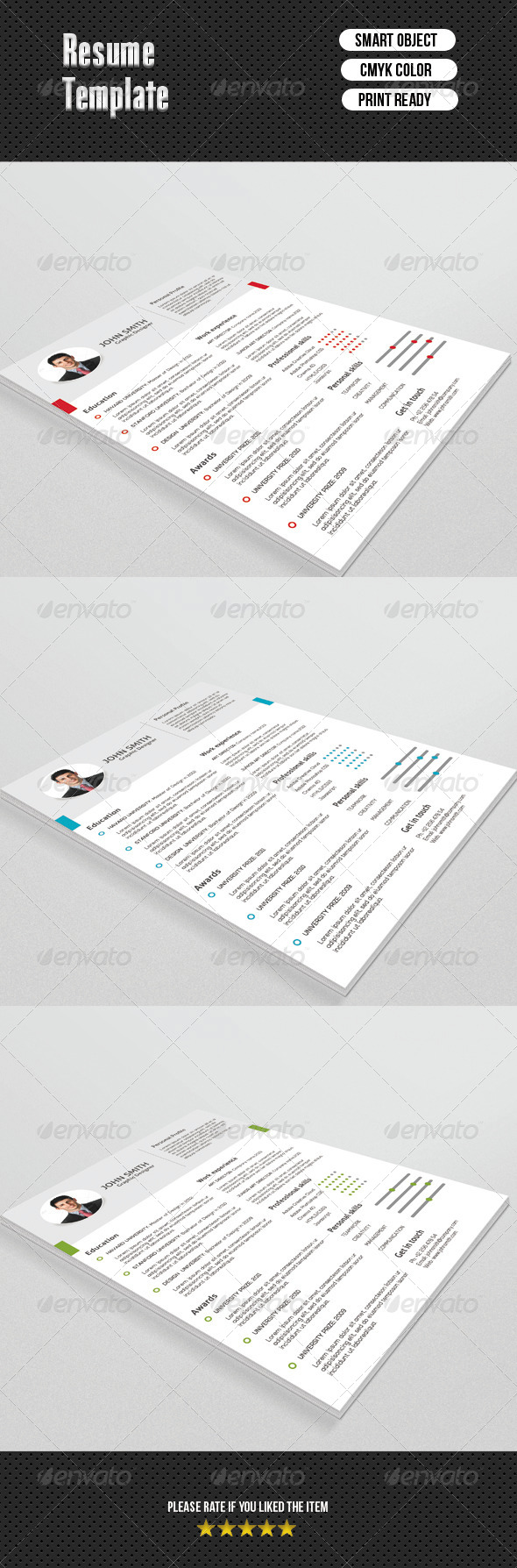Fresh Resume Template - Resumes Stationery