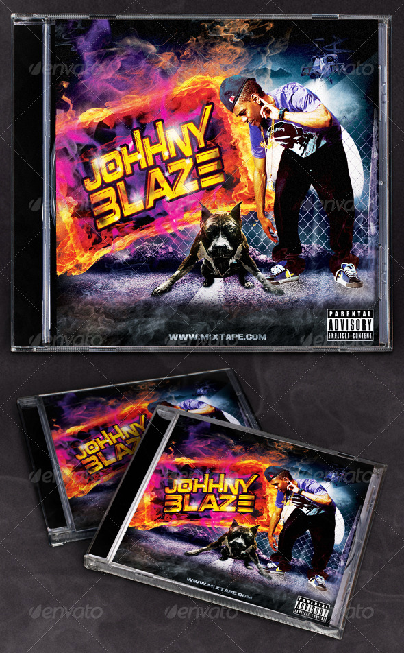 Hip Hop Blaze Mixtape/CD Cover - CD & DVD Artwork Print Templates