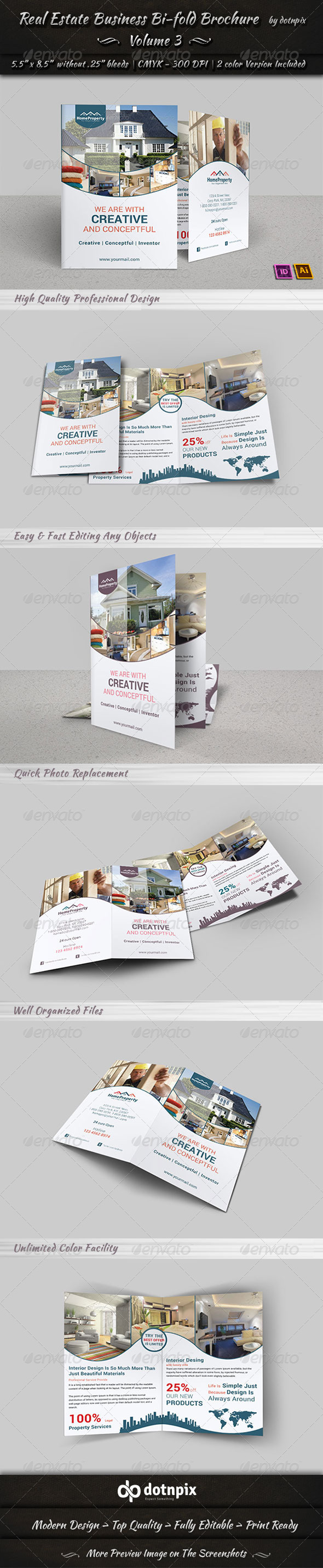 Real Estate Business  Bi-Fold Brochure | Volume 3 - Corporate Brochures