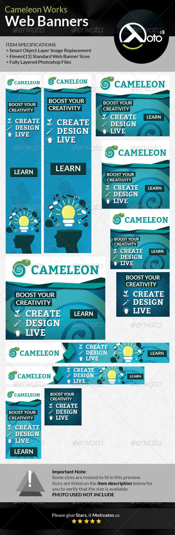 Cameleon Works Web Banners - Banners & Ads Web Elements