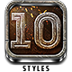10 Epic Metal Photoshop Styles - GraphicRiver Item for Sale
