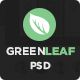 GreenLeaf One Page Web + Blog PSD Template Nulled
