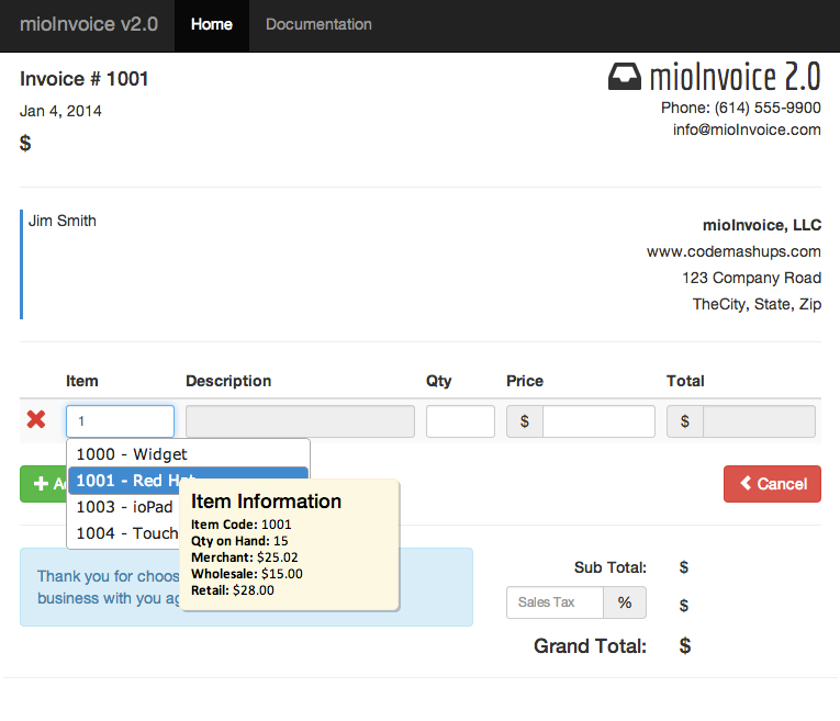 MioInvoice PHP JQuery Invoice Module By Viviosoft CodeCanyon - Invoice module