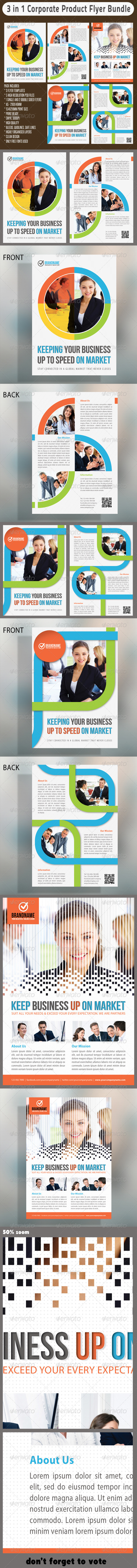 3 in 1 Corporate Flyers Bundle 03 - Corporate Flyers