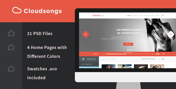 Cloudsongs – Music E-Commerce Template