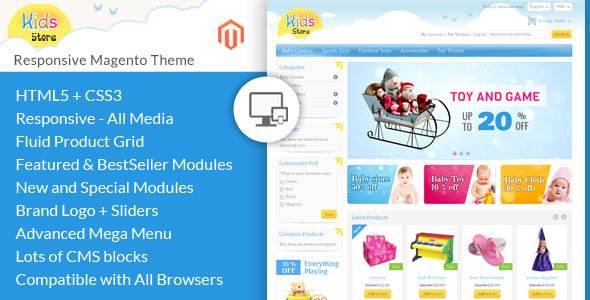 Kids Store – Magento Responsive Template