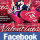 Valentines Party Facebook Timeline Cover - GraphicRiver Item for Sale