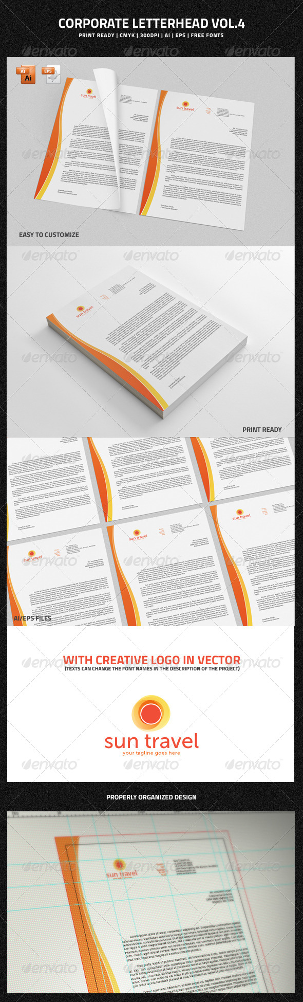 Corporate Letterhead vol.4 - Stationery Print Templates