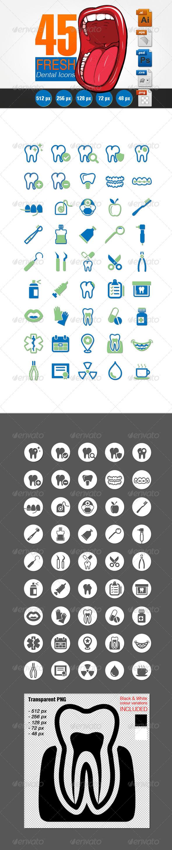 Fresh Dental Icons Set - Icons