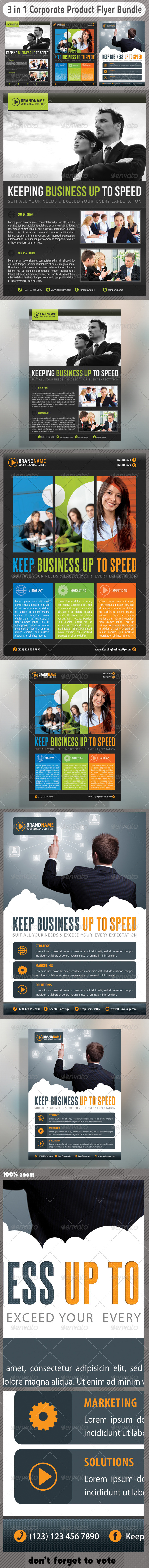 3 in 1 Corporate Flyers Bundle 05 - Corporate Flyers