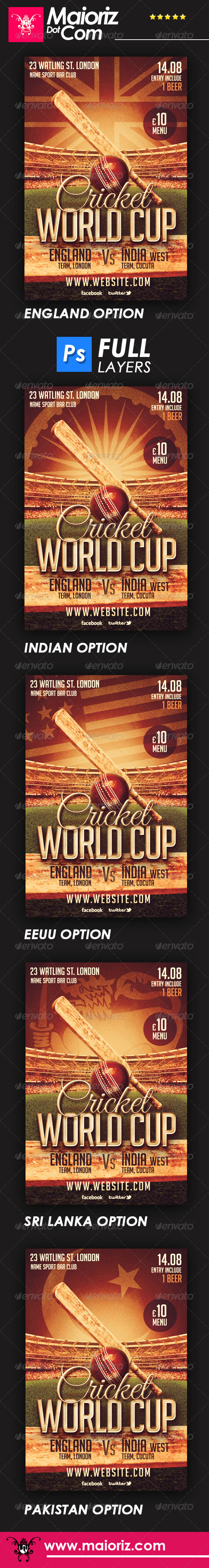 Cricket Cup Flyer - Sports Events