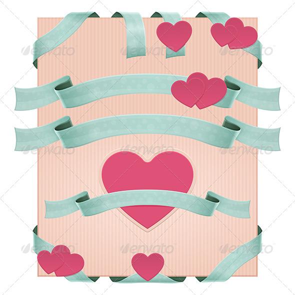 Decorative Ribbons - Decorative Vectors