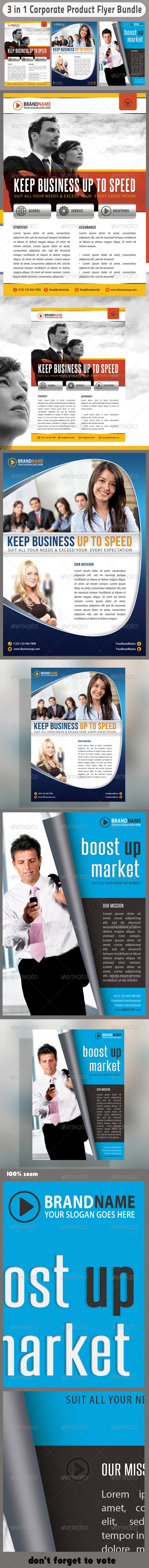 3 in 1 Corporate Flyers Bundle 06 - Corporate Flyers