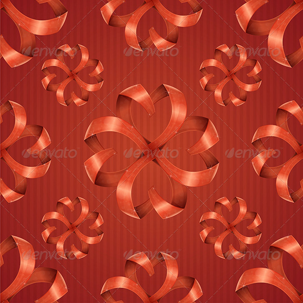 Pattern Ribbons Hearts - Backgrounds Decorative