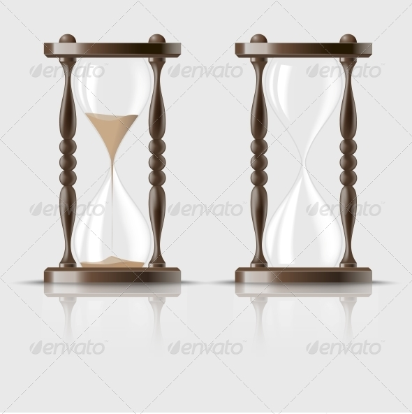 Sand Falling in the Hourglass - Man-made Objects Objects
