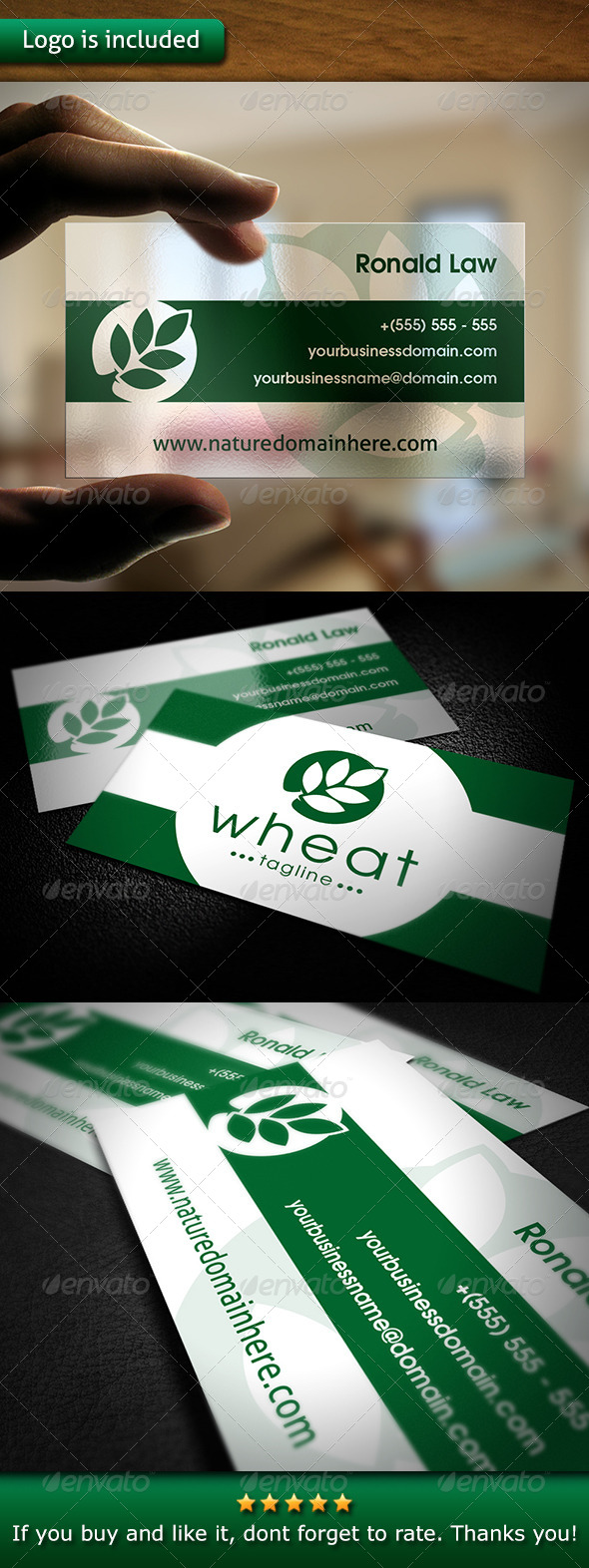Nature Business Card - Corporate Business Cards