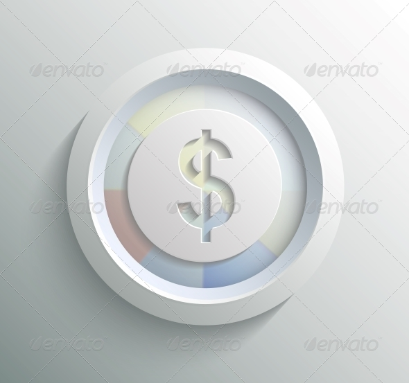 App Icon Metal Dollar with Shadow - Man-made Objects Objects