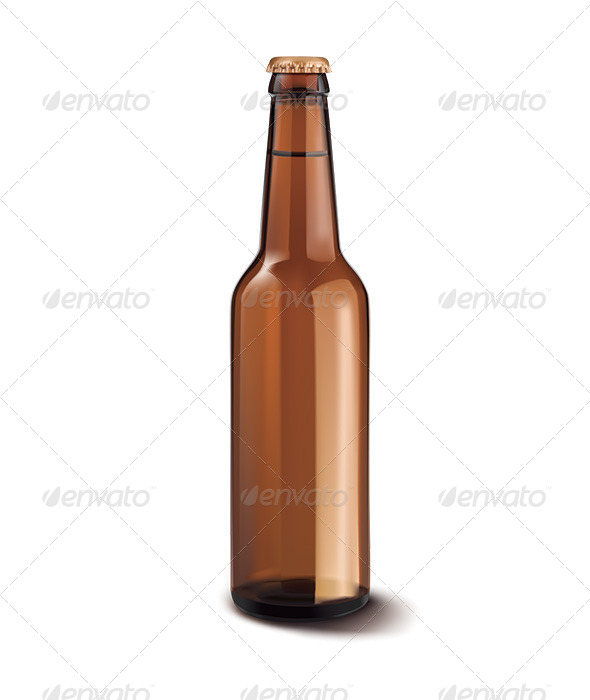 Beer Bottle Isolated  - Man-made Objects Objects