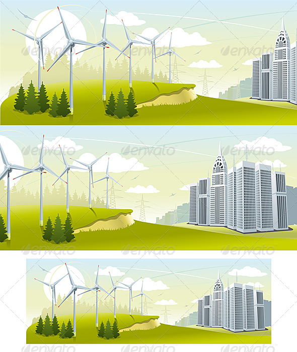 Wind Turbine Park - Nature Conceptual