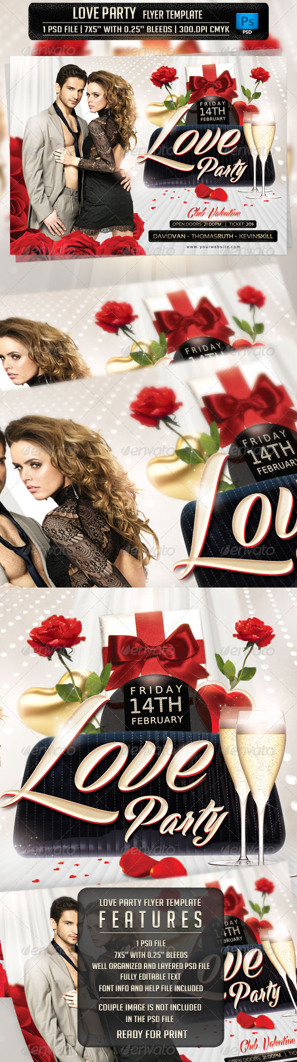 Love Party Flyer Template - Flyers Print Templates