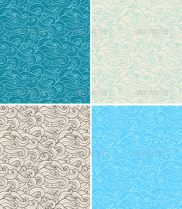 Seamless Pattern with Curl - Patterns Decorative