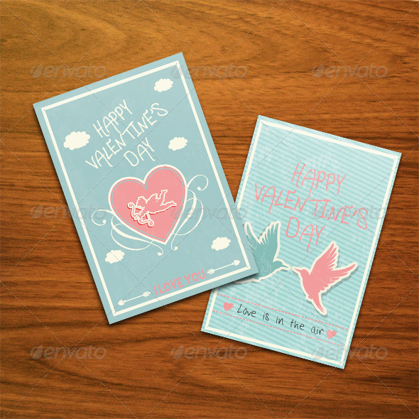 Valentine Card - Cards & Invites Print Templates