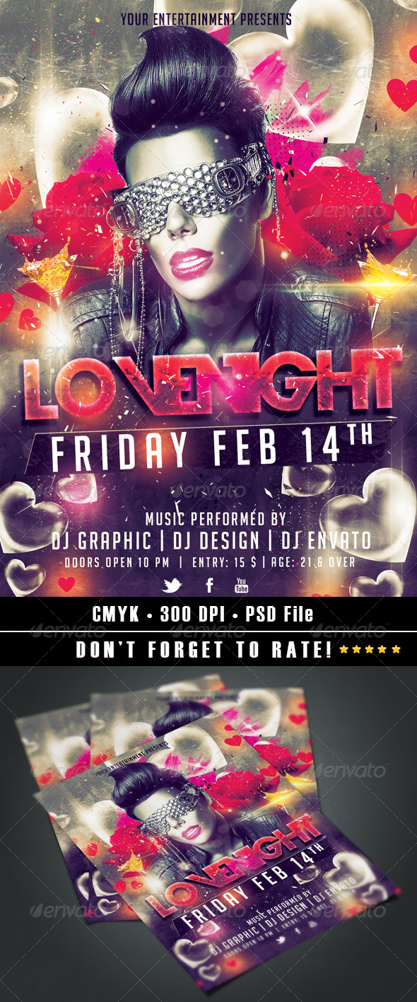 LoveNight Flyer - Clubs & Parties Events